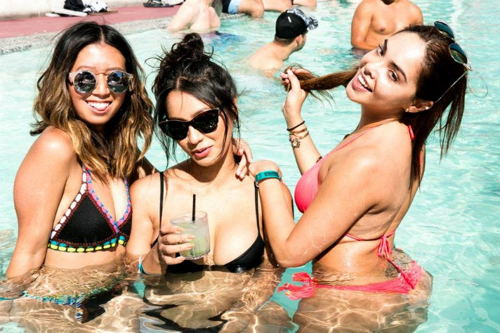 Party girls in the pool at The Standard Downtown L.A.